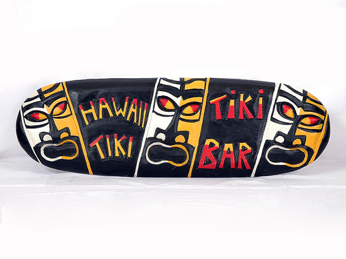 "POP TIKI CULTURE ""TIKI BAR"" SIGN - 24"" - TIKI BAR DECOR"