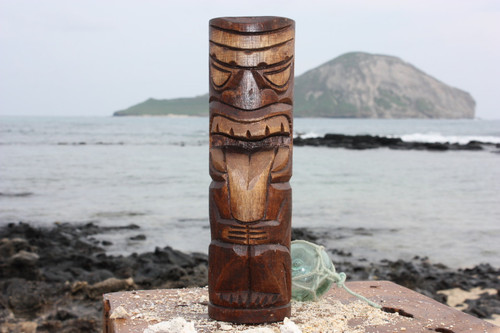 "Strength Tiki Totem 10"" - Antique Finish - Hawaii Gifts"