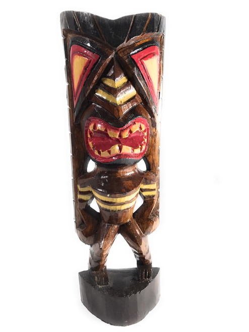 "Happiness Tiki God 16"" - Hand Carved - Hawaii Treasure 