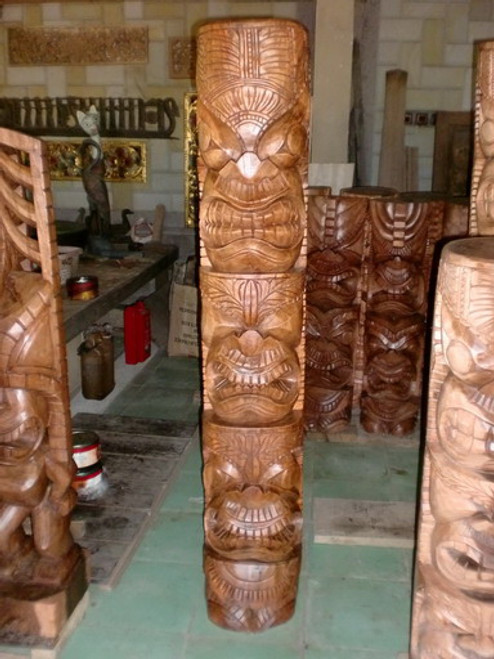 "Premium Triple Headed Tiki 60"" - Love, Prosperity & Health"