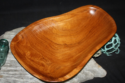 "Rustic Wooden Tray 14""X10""X2"" Teak Root 