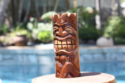 """Vegas, Baby!"" Tiki Totem 6"" - Hand Carved"
