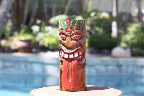 "Warrior Tiki Totem 6"" - Hand Carved"