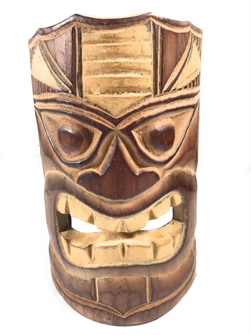 "Winner Tiki Mask 8"" - Hand Carved 