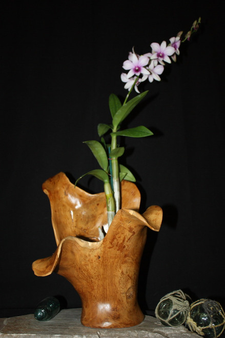 "Wooden Vase Rustic Bowl Sculpture 19"" X 13"" X 16"" 