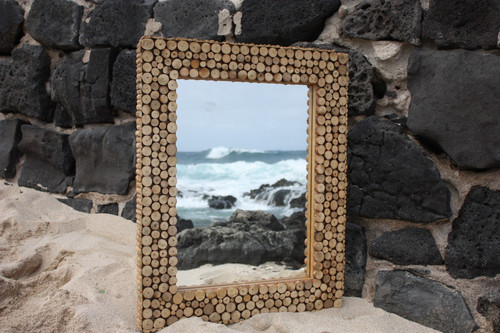 "Coffee Tree Cuts Rectangular Mirror 24""x30"" - Coastal Living"