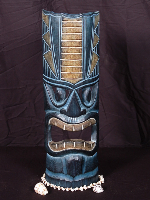 "POLYNESIAN CARVED TIKI MASK 20"" - OCEANIC DECOR 2"