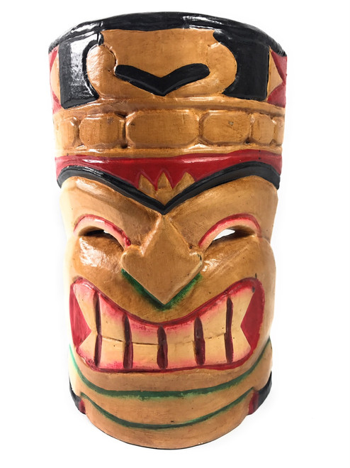 "Love Tiki Mask 8"" - Colorful Hand Carved 