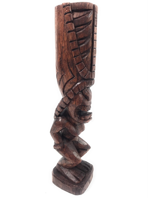 "Love Tiki Totem Pole 12"" - Hand Carved 