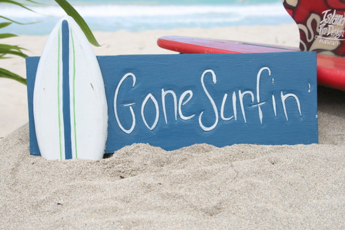 """GONE SURFING "" SURF SIGN 14"" - SURF DECOR 