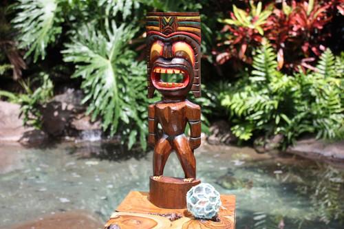 "Big Kahuna Tiki 20"" - Hand Painted Finish - Tiki Trophies"