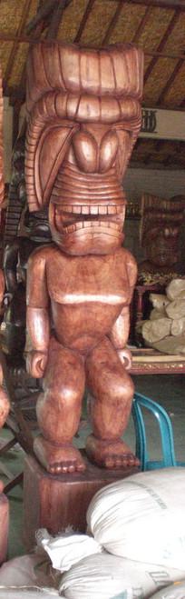 HAWAIIAN TIKI KU - 8 FEET - POLYNESIAN CULTURAL CENTER - OUTDOOR ISLAND DECOR