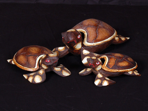 Set of 3 Turtles Ashtray/Keepsake Box | #dpt5129s3