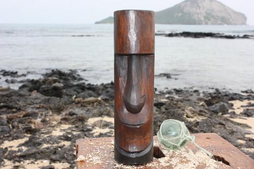 "Moai Easter Island Tiki Totem 5"" - Hand Carved"