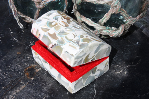Seashell Keepsake Box Small - White - Coastal Decor