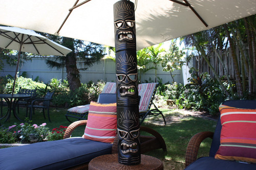 "CARVED TIKI MASK 50"" - STRENGTH TIKI - HAWAIIAN DECOR"