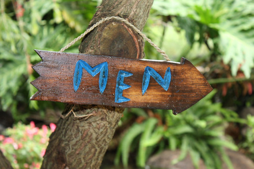 """MEN"" DRIFTWOOD SIGN 12"" - POOL DECOR"