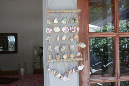Hanging Net w/ Seashells Medium - Assortment - Coastal Decor