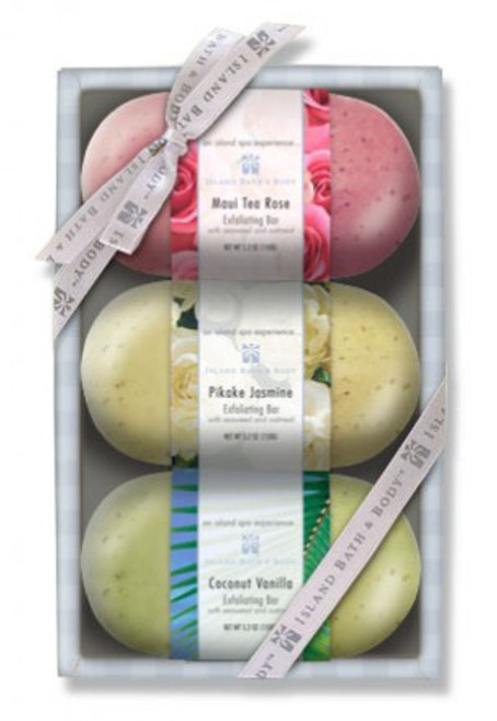 Exfoliating Bars Assorted 3-Pack | Hawaiian Spa Treatment