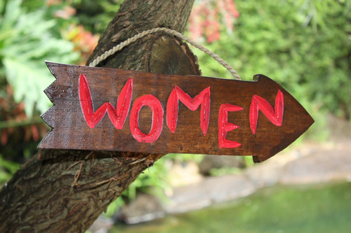 """WOMEN"" DRIFTWOOD SIGN 12"" - POOL DECOR"