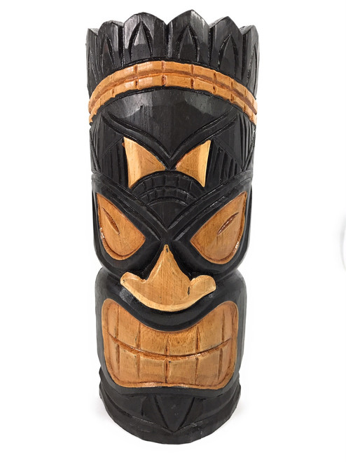 "Winner Tiki Mask 12"" - Hand Carved - Tiki Bar Decor 