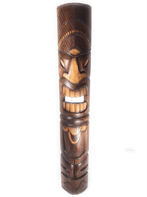 "Prosperity/Abundance Tiki Mask 40"" - Hand Carved 