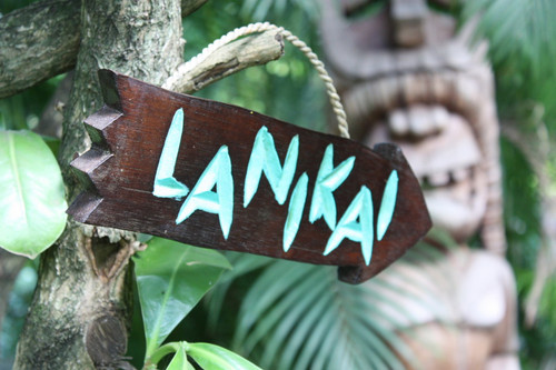 """LANIKAI"" DRIFTWOOD SIGN 12"" - POOL DECOR"