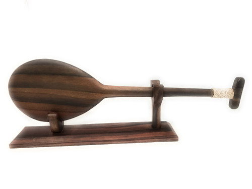 "Ebony paddle w/ T 20"" on stand - Desktop Home Office Decor 
