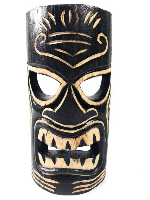 "Strength Tiki Mask 8"" - Hand Carved 