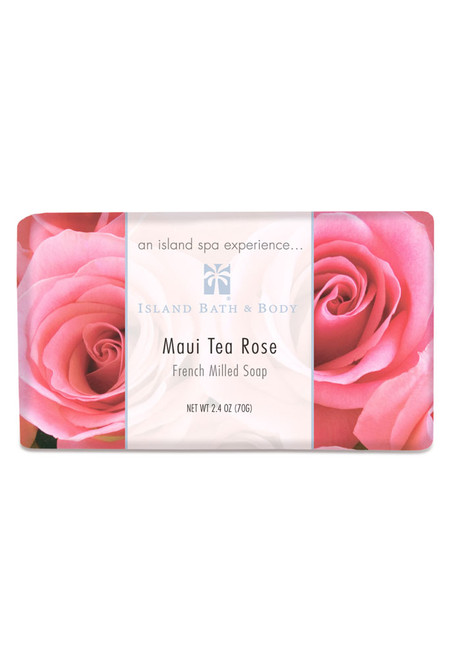 French-Milled Soap 2.4 oz Maui Tea Rose   Exotic Soap