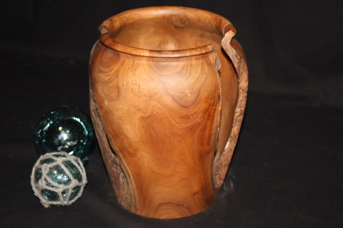 "Collection Teak Root Jar 12"" X 10"" - Center Piece Designer"