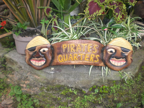 """PIRATE'S QUARTERS"" PIRATE SIGN 24"" - PIRATE DECOR"