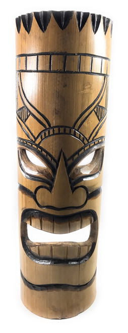 "Love bamboo Tiki Mask 20"" - Burnt Finish 