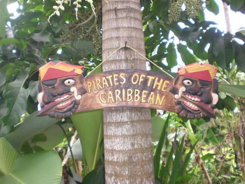 """PIRATES OF THE CARIBBEAN"" PIRATE SIGN 24"" - PIRATE DECOR"
