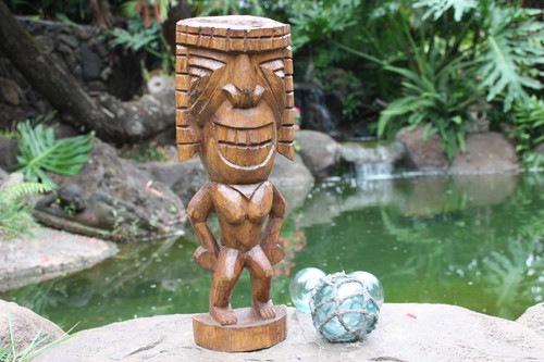 "Ku Tiki 16"" - Warrior Tiki - Hand Carved"
