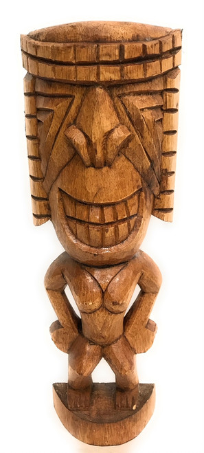 "Ku Tiki 16"" - Warrior Tiki - Hand Carved 