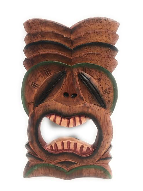 """Big Kahuna Tiki Mask 8"""" Wall Plaque - Hand Carved   #dpt515020"""