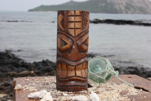 "Lucky Tiki Totem 6"" - Antique Finish - Hawaii Gifts 