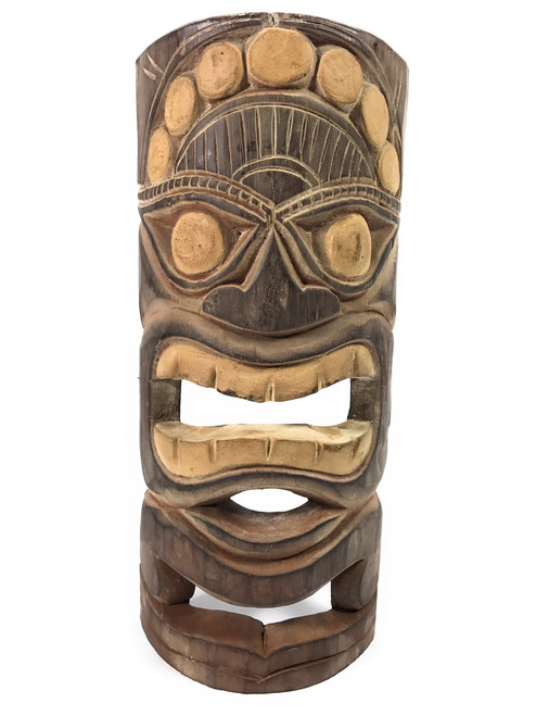 "Earth Tiki Mask 12"" - Good Crop Tiki Idol 
