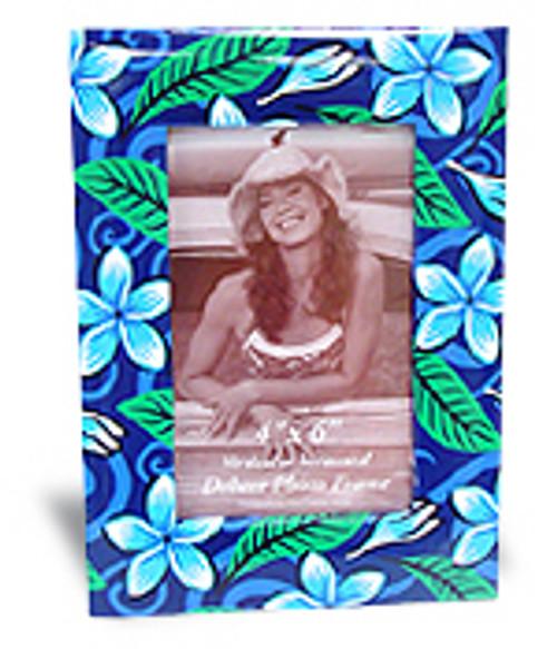 "PHOTO FRAME 4"" X 6"" - WINTER PLUMERIA - HAWAII VACATION"