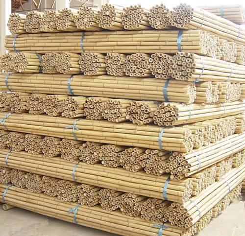 "8' X 1"" - 50 Pieces Natural Bamboo Poles"
