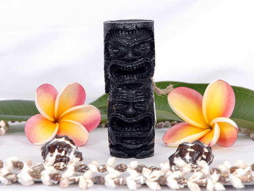 "Love and Prosperity Tiki Totem 4"" Black - Hawaiian Gifts"