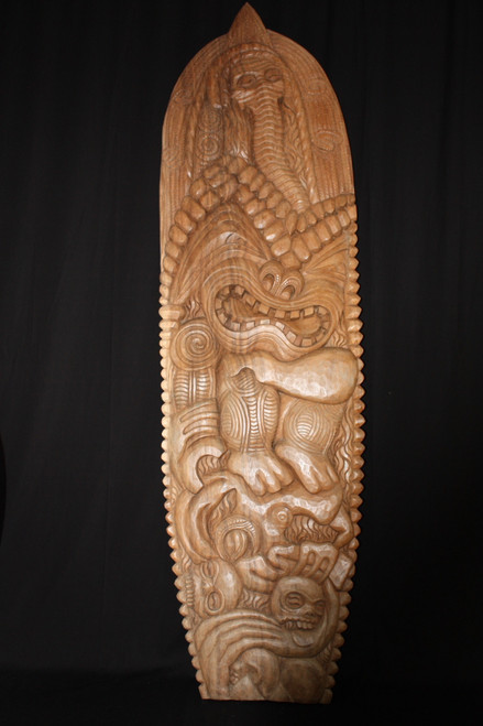 CARVED TIKI SURFBOARD 6 FT - HAWAIIAN ART