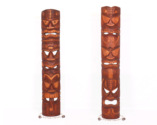 Pair Of Triple Headed Tiki Masks - Love, Health, Money | #dpt501012_duo