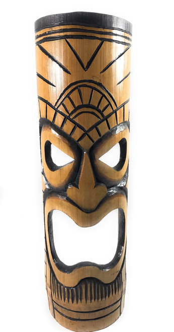 Warrior Chief bamboo Tiki Mask 20"