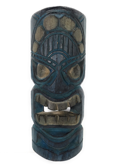 "Winner Tiki Mask 12"" - Deep Blue Tone - Tiki Decor 