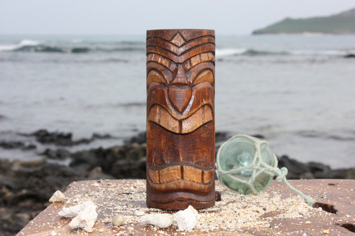 "Vegas Baby Tiki Totem 6"" - Antique Finish - Hawaii Gifts"