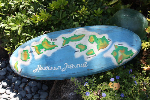 """HAWAIIAN ISLAND CHAINS"" SURF SIGN 32"" - HAWAII"