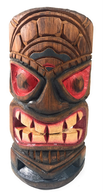 "Hospitality Tiki Mask 8"" - Hand Carved Painted 