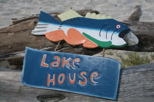 """LAKE HOUSE"" LAKE HOUSE SIGN 15"" - NAUTICAL DECOR"